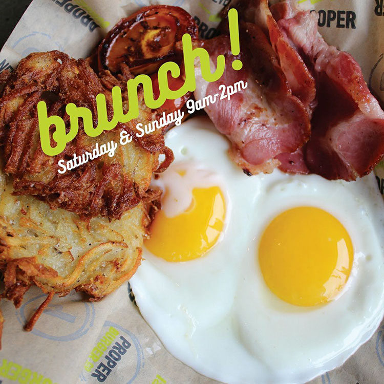 Proper Burger Co - brunch is now served