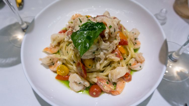 Stanza - lobster and gulf shrimp linguine