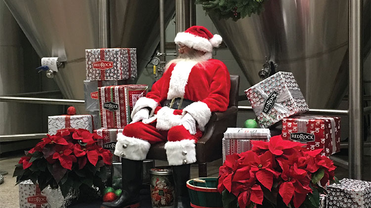 Red Rock Brewing - beer with santa