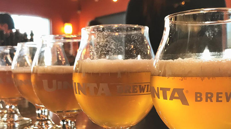 Uinta Brewing - beer at brew house pub. Credit Uinta