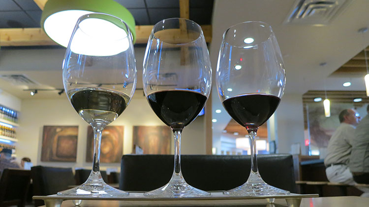 Vino Volo SLC airport - wine flight