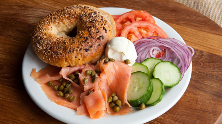 Feldmans Deli - bagel with lox