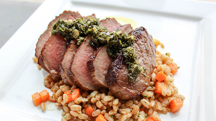 Avenues Proper - steak with farro (Avenues Proper)