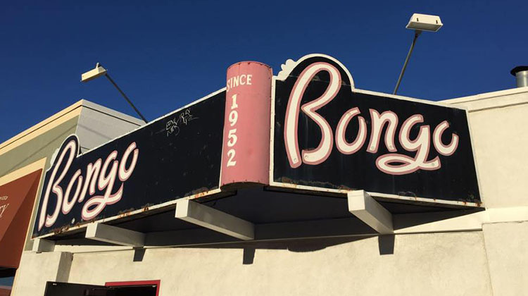 Bongo Lounge outside sign