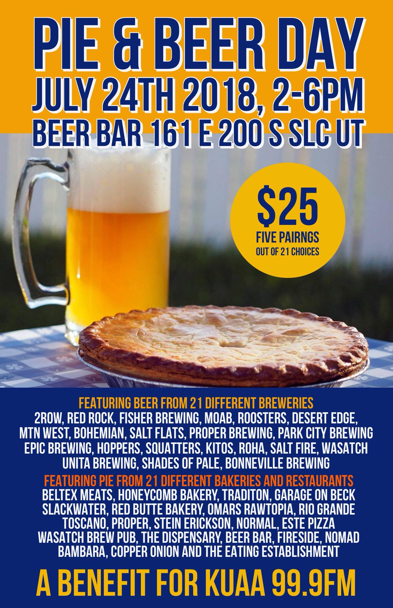Pie And Beer Day 2018