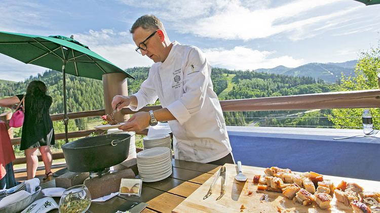 Stein Eriksen chef Zane Holmquist at Hops On The Hill (Stein Eriksen)
