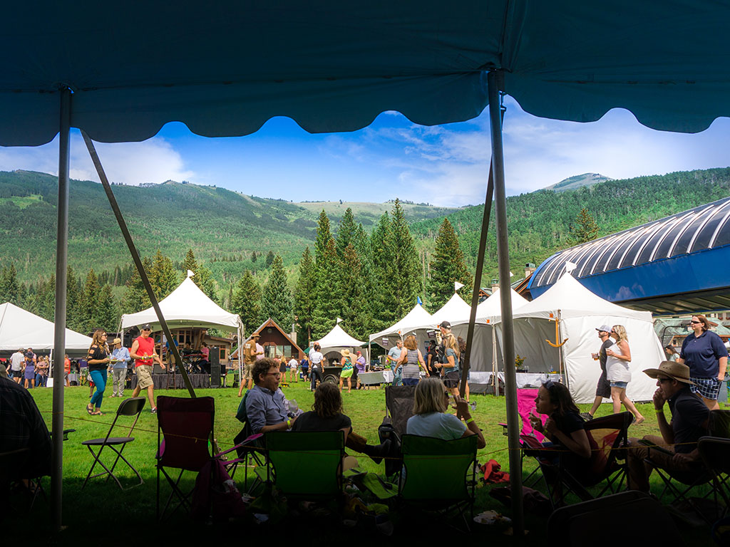 Taste Of The Wasatch 2017 - looking out from the VIP tent