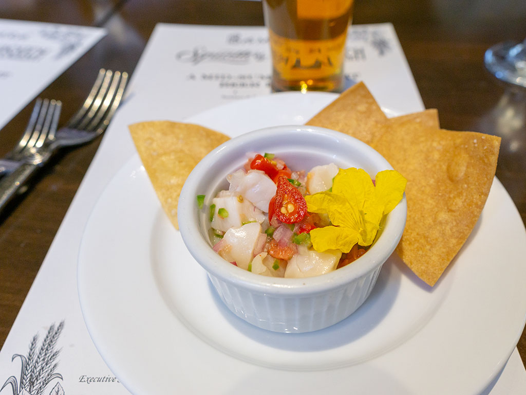 Bambara - Wasatch Summer beer dinner - scallop ceviche