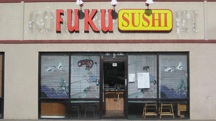 Fuku Sushi exterior (Davis County Health)