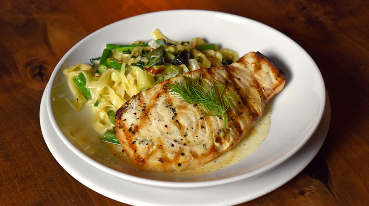 Midway Mercantile - grilled Hawaiian swordfish (Midway Mercantile)