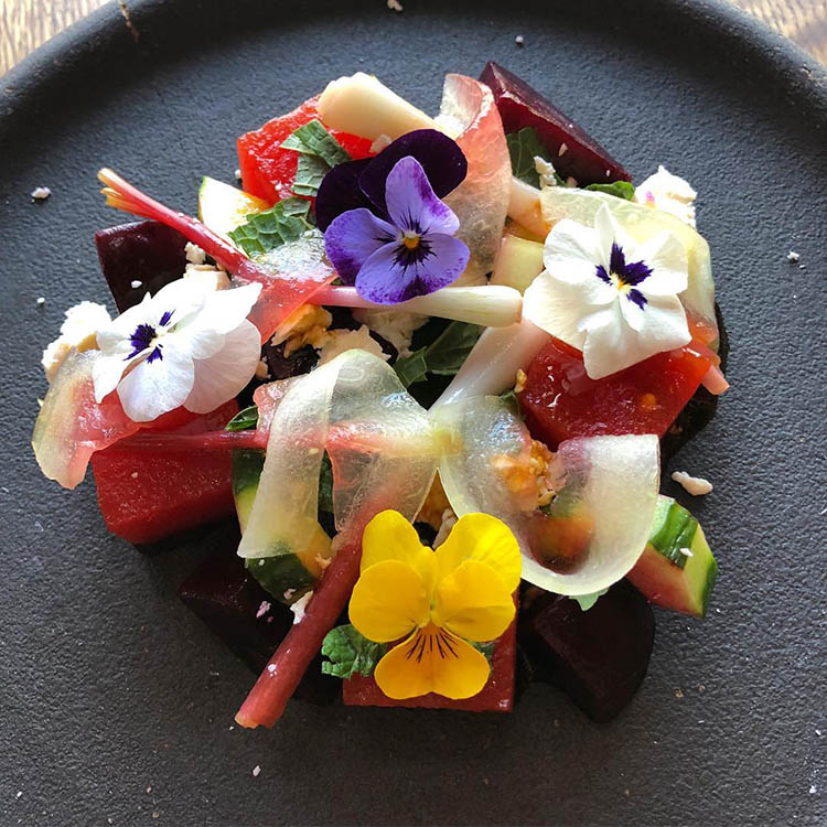 Tupelo - compressed watermelon salad on Summer menu (Tupelo)