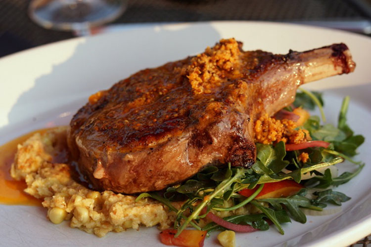 Honeycomb Grill - Niman Ranch pork chop (Ted Scheffler | Utah Stories)