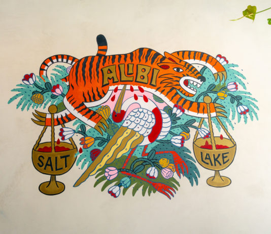 Alibi SLC wall art