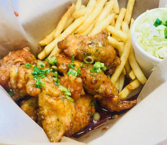 Bok Bok Chicken - boneless chicken and fries (Bok Bok Chicken)