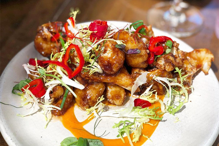 HSL - General Tso cauliflower (saltplatecity)