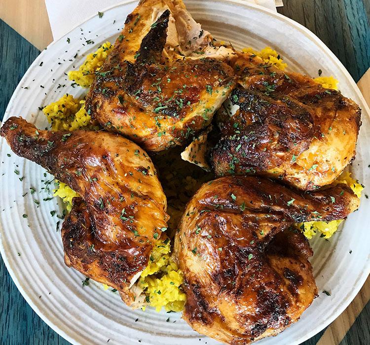 PIri piri marinated grilled chicken (Zulu Piri Piri Chicken Grille)