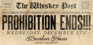 Repeal Day Party (Bourbon House)