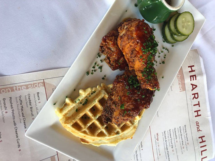 Chicken and waffles (Hearth And Hill)