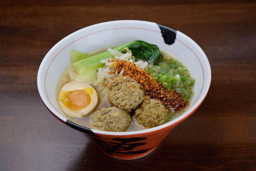 Jinya Ramen Bar - spicy meatball ramen (Jinya)