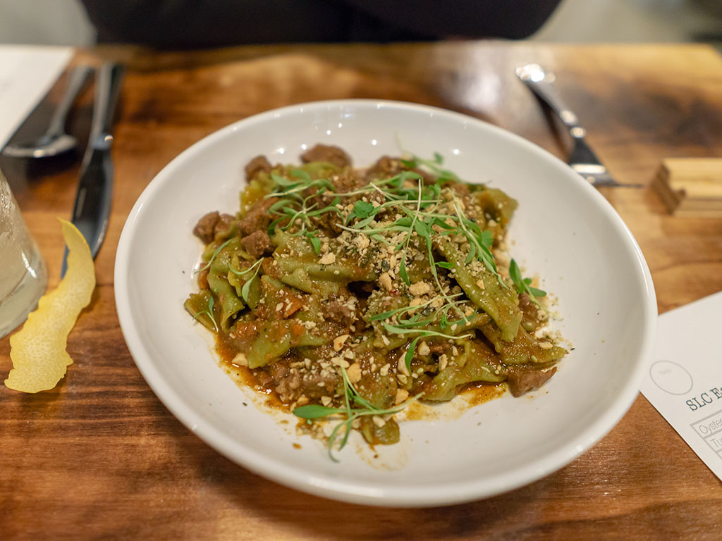 SLC Eatery - lamb shoulder with fermented black beans and pasta