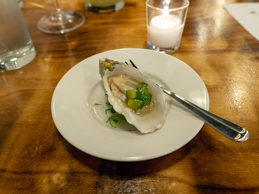 SLC Eatery - oyster from the cart