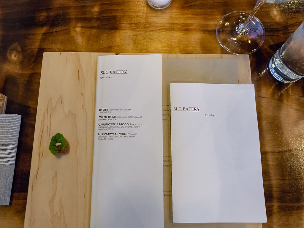 SLC Eatery - place setting with amuse
