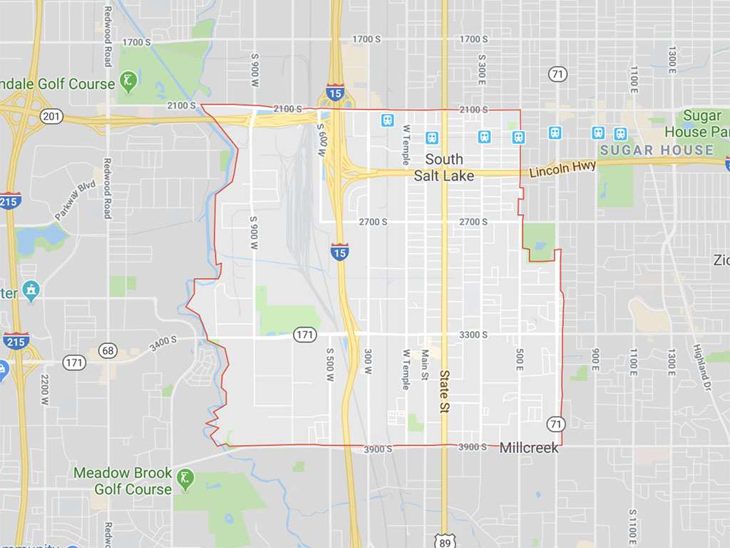 South Salt Lake boundaries (Google Maps)