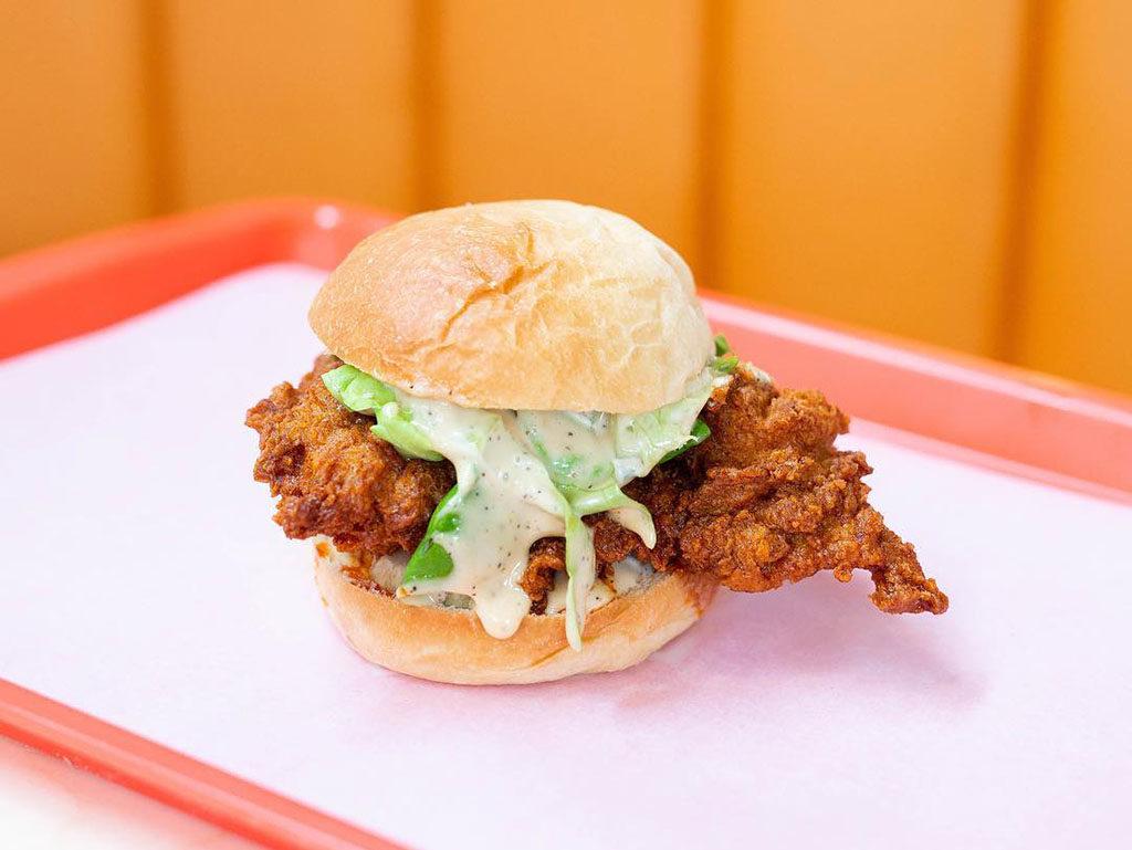 Lovebirds Hot Chicken - fried chicken sandwich (Lovebirds Hot Chicken)