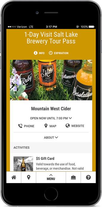 Brewery Pass app (Visit Salt Lake)