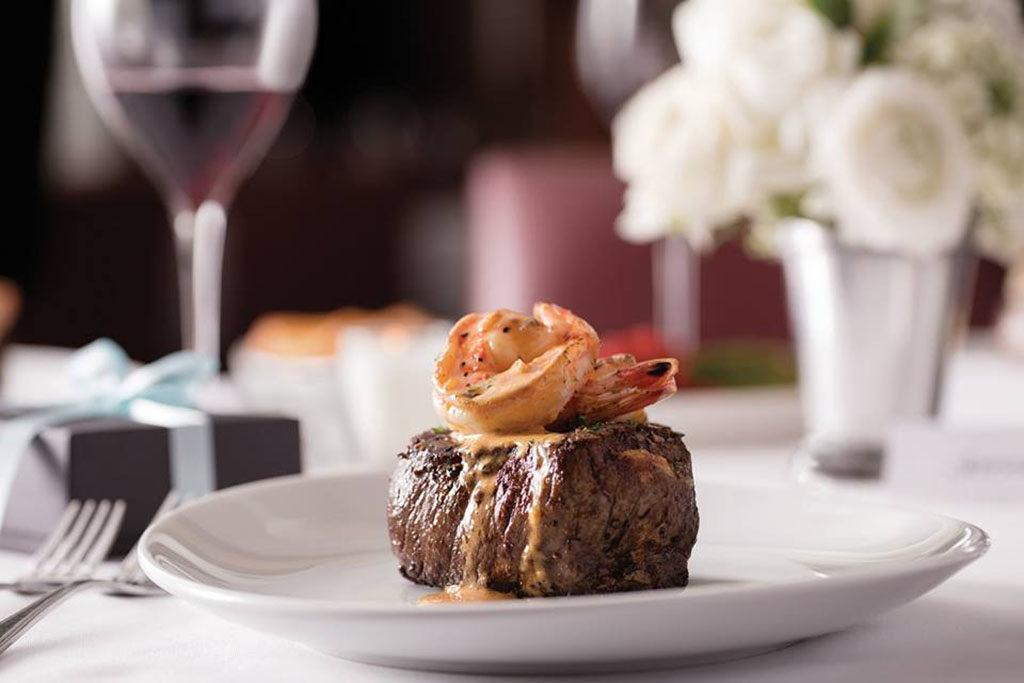 Fleming's Steakhouse - filet with shrimp (Fleming's)