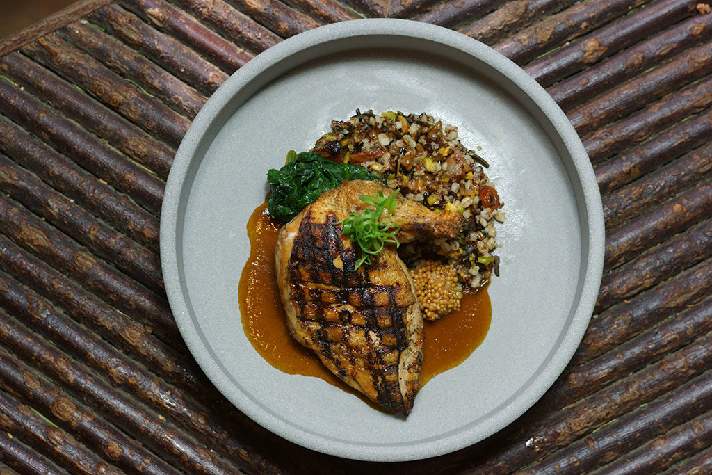 Log Haven - grilled chicken with grains